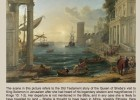 Painting: Seaport with the Embarkation of the Queen of Sheba | Recurso educativo 39534